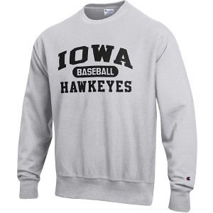 Iowa Hawkeyes Baseball Reverse Weave Crew Sweat