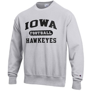 Iowa Hawkeyes Football Reverse Weave Crew Sweat