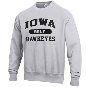 Iowa Hawkeyes Golf Reverse Weave Crew Sweat