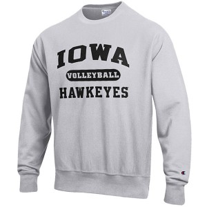 Iowa Hawkeyes Volleyball Reverse Weave Crew Sweat
