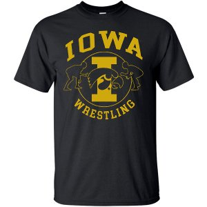 Iowa Hawkeyes Wrestling Center Circle Tee