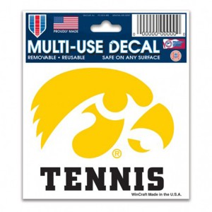 Iowa Hawkeyes Tennis Decal
