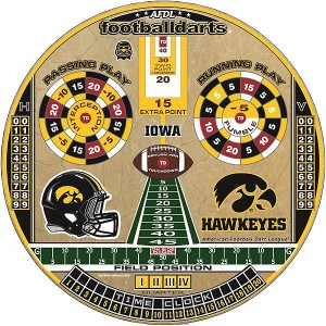 Iowa Hawkeyes Football Dart Board