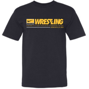 Iowa Hawkeyes Wrestling Engineered Black Tee