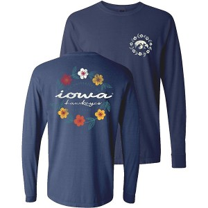 Iowa Hawkeyes Women's Flowers Logo Tee