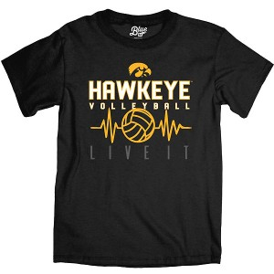 Iowa Hawkeyes Volleyball Feel The Beat Tee - Short Sleeve