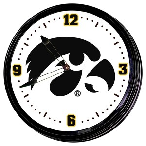 Iowa Hawkeyes Illuminated Clock