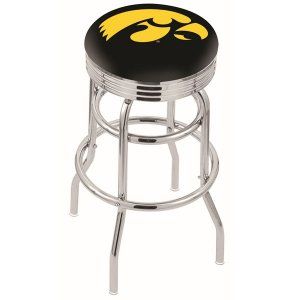 Iowa Hawkeyes Double Ring Swivel Bar Stool