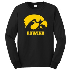 Iowa Hawkeyes Rowing Logo Long Sleeve Tee