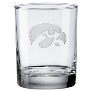 Iowa Hawkeyes Rocks Glass