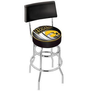 Iowa Hawkeyes Swivel Bar Stool w/ Back