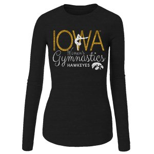 Iowa Hawkeyes Youth Gymnastics Long Sleeve Tee