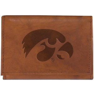 Iowa Hawkeyes Leather Tri-Fold Wallet