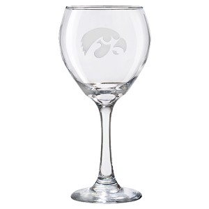 Iowa Hawkeyes Large Red Wine Glass