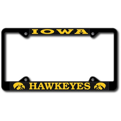 Iowa Hawkeyes Powder Coat License Plate Frame