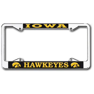 Iowa Hawkeyes Chrome License Plate Frame