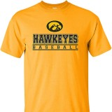 Iowa Hawkeyes Baseball Bars Tee