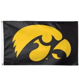 Iowa Hawkeyes Tigerhawk Flag