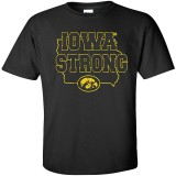 Iowa Hawkeyes Iowa Strong Black Tee - Short Sleeve