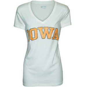 Iowa Hawkeyes Women's Mia V-neck Tee