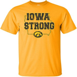 Iowa Hawkeyes Iowa Strong Gold Tee - Short Sleeve