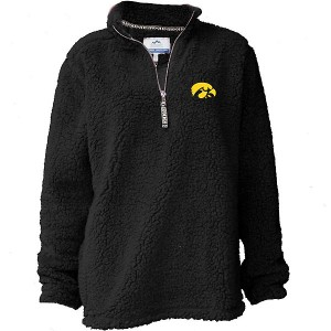Iowa Hawkeyes Women's Sherpa 1/4 Zip Black Jacket