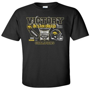 Iowa Hawkeyes Holiday Bowl Victory Tee - Short Sleeve