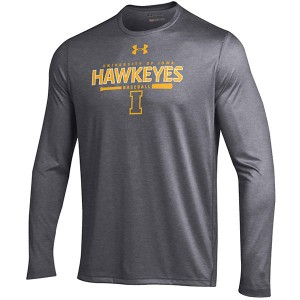 "Iowa Hawkeyes ""Hawkeyes"" over Baseball Bat LS Tee"