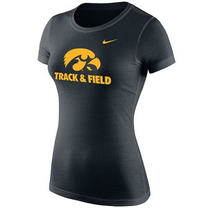 Iowa Hawkeyes Women's Track & Field Logo Tee