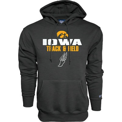 Iowa Hawkeyes Track and Field Blank Slate Hoodie